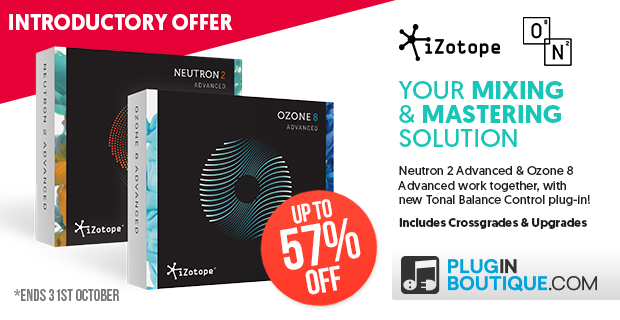 iZotope O8N2 Bundle Introductory Sale - Up To 50% Off