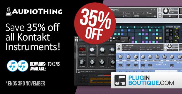 AudioThing Kontakt Instrument Halloween Sale - 35% Off