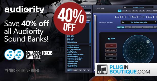 Audiority Sound Bank Halloween Sale - 40% Off