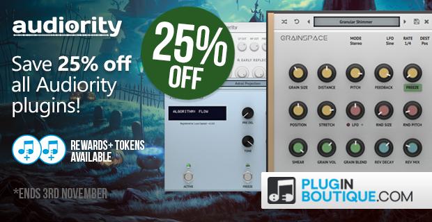 Audiority Plugin Halloween Sale - 25% Off