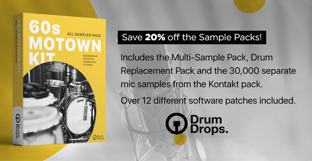 DrumDrops 60s Motown Kit Introductory Sale - 20% Off