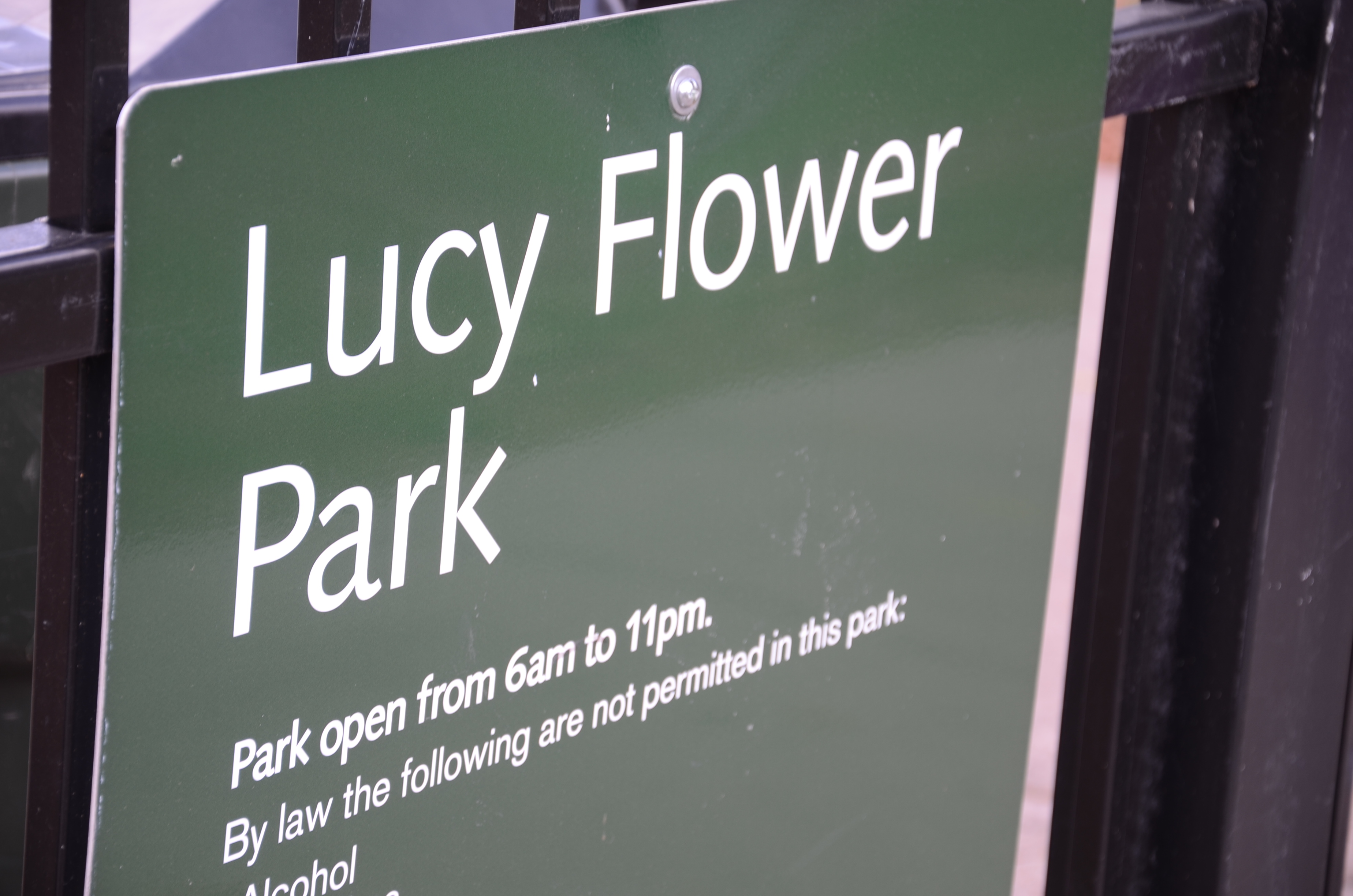 IMAGE: Lucy Flower Park Sign