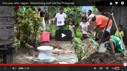 One year after Haiyan: GlobalGiving staff visit the Philippines
