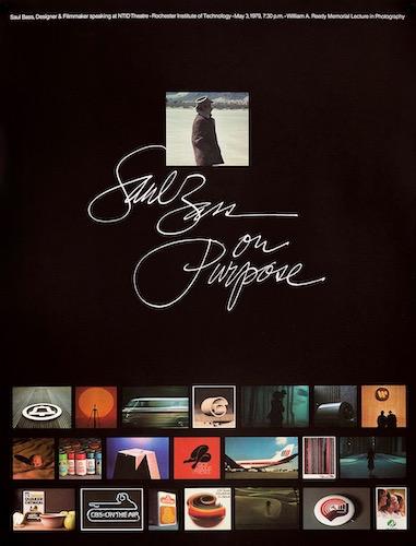 Saul Bass On Purpose Original Vintage Movie Poster