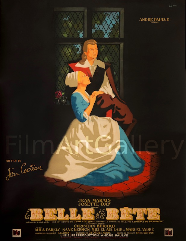 Beauty And The Beast La Belle Et La Bete Original Vintage Movie Poster