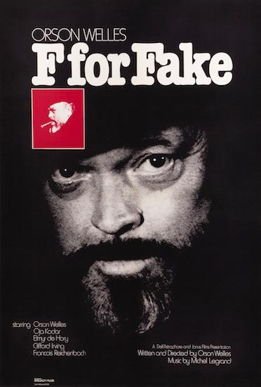 Orson Welles F For Fake Original Vintage Movie Poster