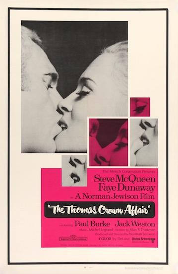 Steve McQueen The Thomas Crown Affair Original Vintage Movie Poster