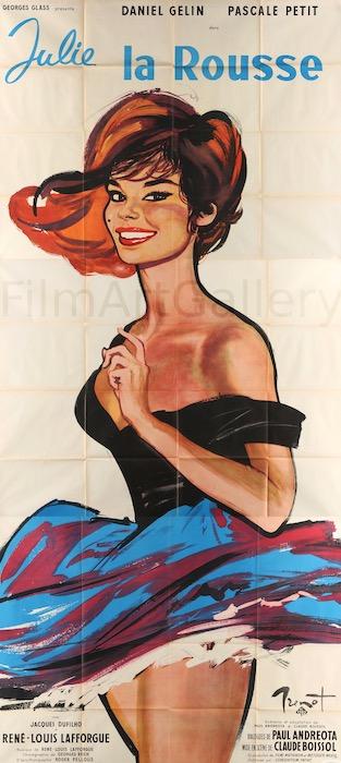 Julie The Redhead Julie La Rousse Original Vintage Movie Poster