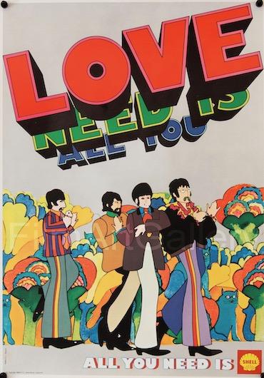 Yellow Submarine The Beatles Vintage Original Movie Poster