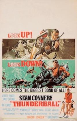 Thunderball 007 James Bond Original Vintage Movie Poster