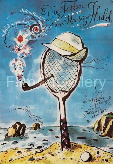 Les Vanances De Monsieur Hulot Vintage Original Movie Poster