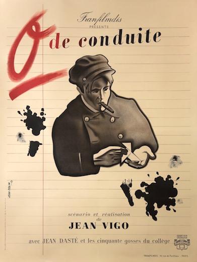 Zero For Conduct De Conduite Original Vintage Movie Poster