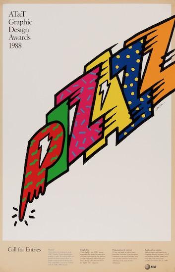 AT&T Graphic Design Awards 1988 Saul Bass Original Vintage Poster