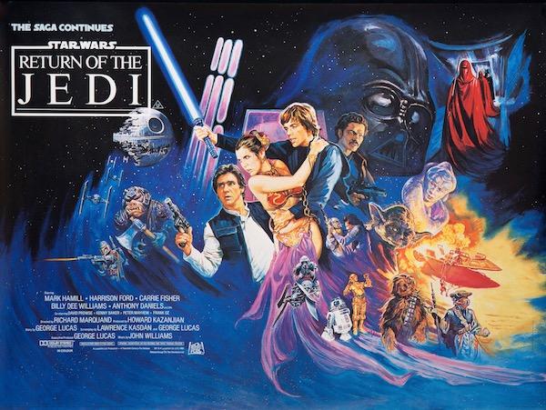 Star Wars Return of the Jedi Original Vintage Movie Poster