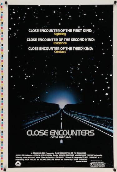 Close Encounters of the Third Kind Vintage Original Movie Poster