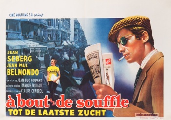 Breathless A Bout De Souffle Original Vintage Movie Poster
