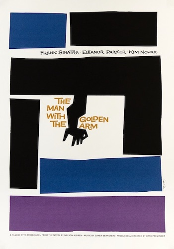 The Man With The Golden Arm Original Vintage Movie Poster