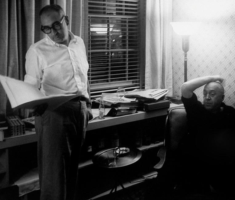 Saul Bass and Otto Preminger