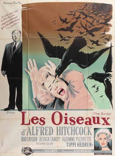 Alfred Hitchcock The Birds Original Vintage Movie Poster