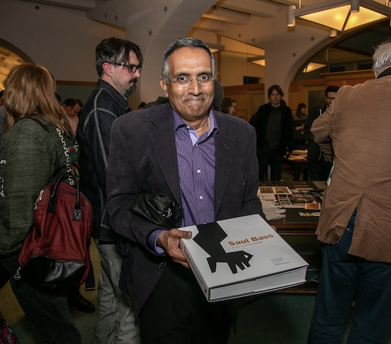 Man with Saul Bass Book at Acadey of Motion Pictures Arts and Sciences