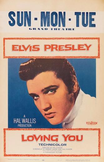 Loving You Elvis Presley Original Vintage Movie Poster