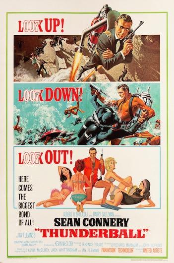 007 James Bond Thunderball Original Vintage Movie Poster