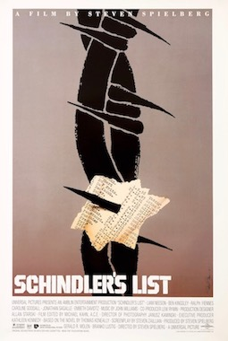 Schindlers List Barbed Wire Saul Bass Original Vintage Movie Poster