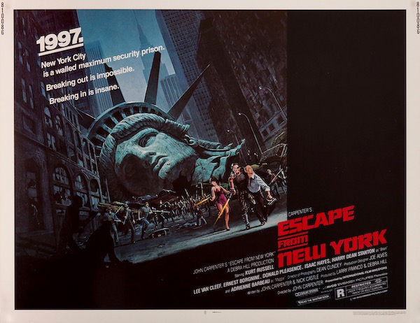 Escape From New York Kurt Russell John Carpenter Vintage Original Movie Poster