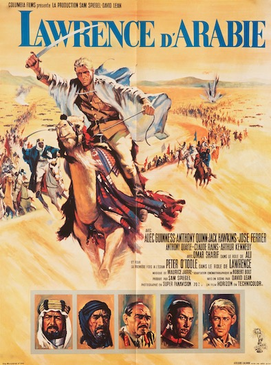 Peter O'Toole Alec Guinness Lawrence of Arabia Original Vintage Movie Poster