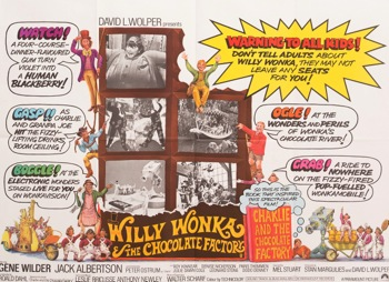 Willy Wonka and the Chocolate Factory Original Vintage Movie Poster