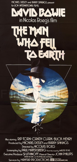 The Man Who Fell to Earth David Bowie Rip Torn Vintage Original Movie Poster