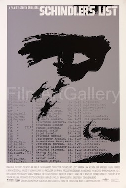 Schindlers List Unused Alternate Eye Saul Bass Original Vintage Movie Poster