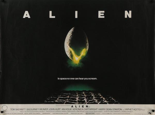 Ridley Scott Alien Original Vintage Movie Poster