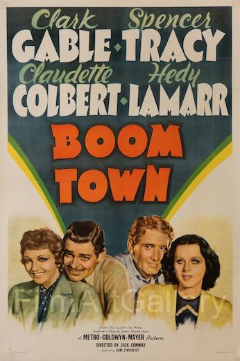 Boom Town Original Vintage Movie Poster