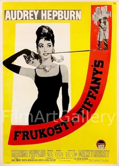 Audrey Hepburn Breakfast at Tiffanys Original Vintage Movie Poster