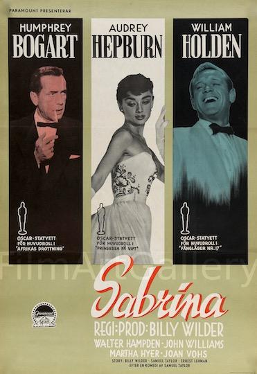 Sabrina Original Vintage Movie Poster
