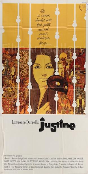 Justine Original Vintage Movie Poster