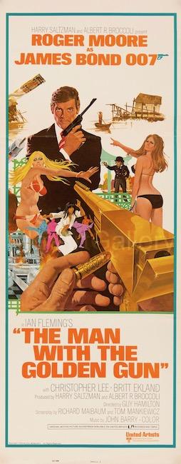 The Man With The Golden Gun James Bond 007 Original Vintage Movie Poster