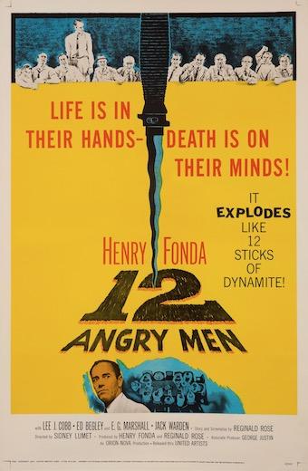 12 Angry Men Original Vintage Movie Poster