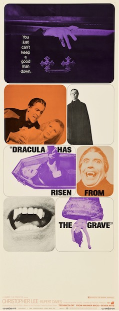 Dracula Has Risen From The Grave Original Vintage Movie Poster