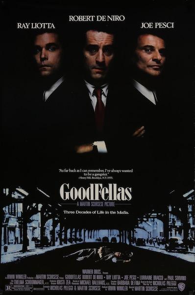 Martin Scorsese Goodfellas Original Vintage Movie Poster