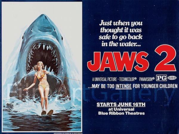Jaws Original Vintage Movie Poster