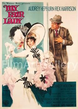 My Fair Lady Audrey Hepburn Original Vintage Movie Poster