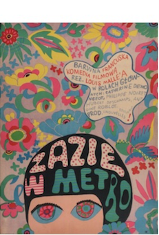Zazie Dane Le Metro Original Vintage Movie Poster