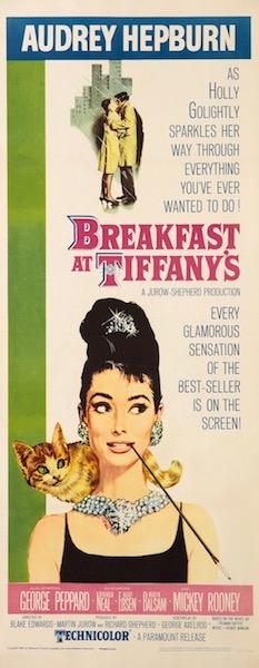 Audrey Hepburn Breakfast At Tiffany's Original Vintage Movie Poster