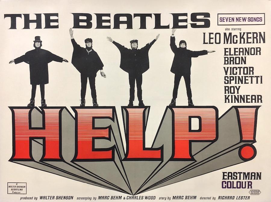 The Beatles Help Original Vintage Movie Poster
