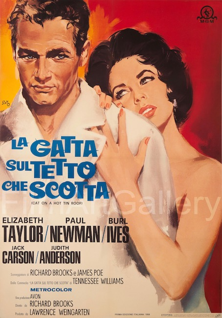 Cat On A Hot Tin Roof Original Vintage Movie Poster