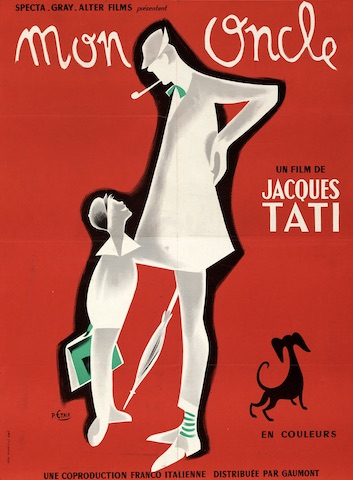 My Uncle Mon Oncle Original Vintage Movie Poster