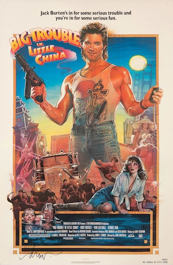 Big Trouble in Little China Original Vintage Movie Poster
