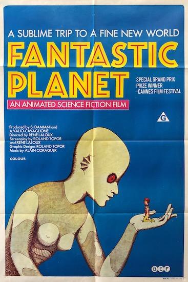 Fantastic Planet La Planete Sauvage Original Vintage Movie Poster